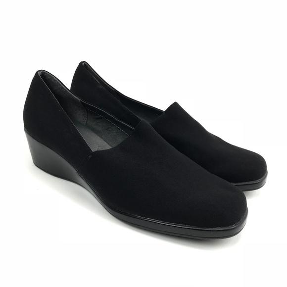 cff9ab9be6e AEROSOLES Shoes - Aerosoles Womens Sideways Flat Black Loafer Sz 9.5